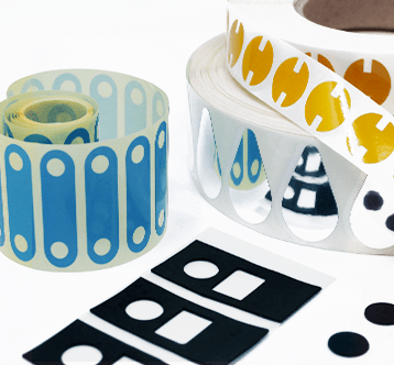 Etik Ouest Converting, conception et fabrication d'étiquettes techniques et RFID, Étiquettes et pièces souples