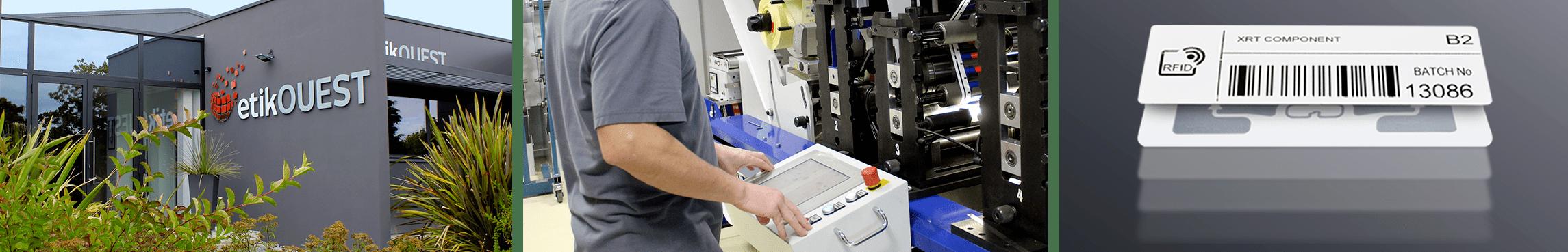 Etik Ouest Converting, conception et fabrication d'étiquettes techniques et RFID