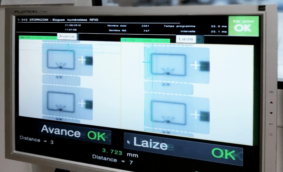 disposition caméra de contrôle de production