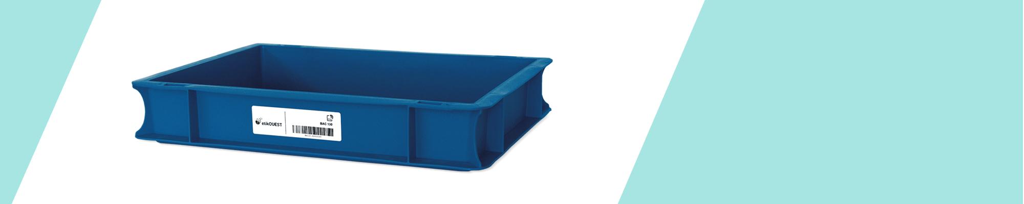 traçabilité des bacs plastiques pour la fabrication d'étiquettes techniques et RFID