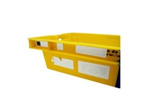 étiquette pour bac en plastique de la gamme HB