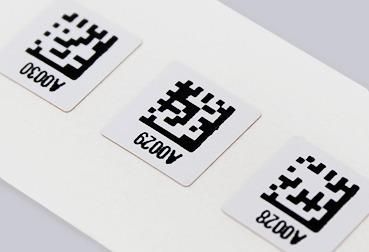 étiquette miniature datamatrix