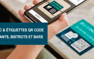 etiquettes NFC etiquettes QRcode restaurants bars bistrots Etik Ouest Converting